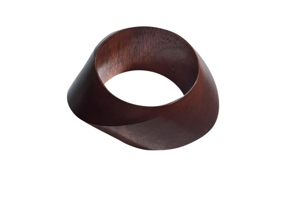 "Chunky Wooden Bangle Bracelet  Fits small wrists; opening 2.5""  Green, Mustard or Brown Made in India."