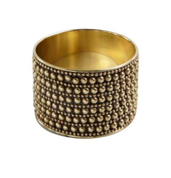 Black/Gold Multi-Stud Bangle