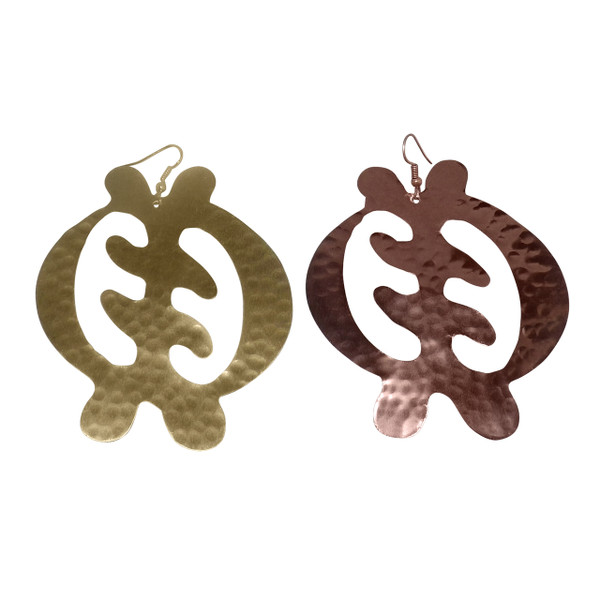 Gold or Copper Gye Nyame (Adinkra) symbols.