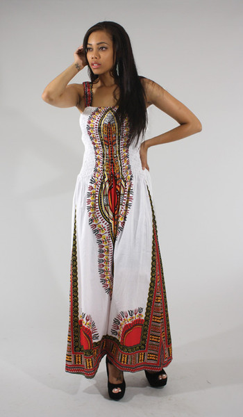 Traditional Thailand Print Long Dress