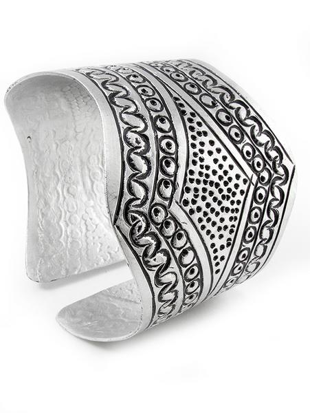 Aluminum Recycled Metal Cuff Bracelets