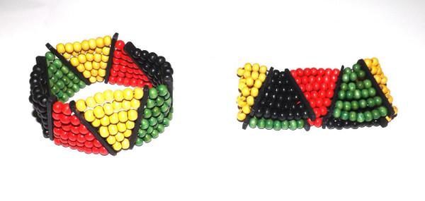 Rasta Stretch Bracelets  Multi beaded stretch Rasta bracelets...one size fits most. Made in China.