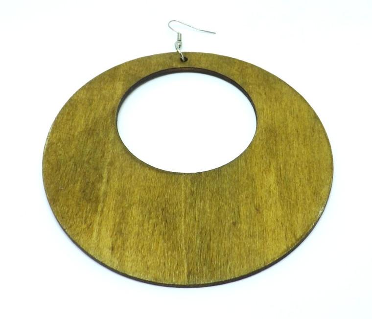 "5"" Wooden Donut Flat Hoops   Flat stylish wooden donut styled hoop earrings....Brown, Natural, Black."
