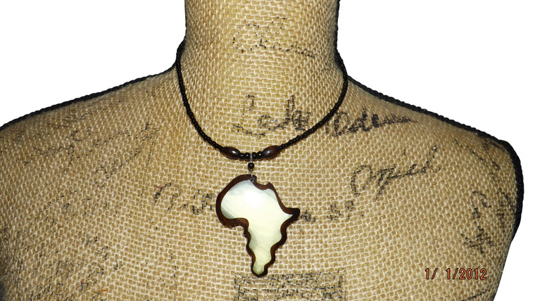 Africa Map Unisex Necklace