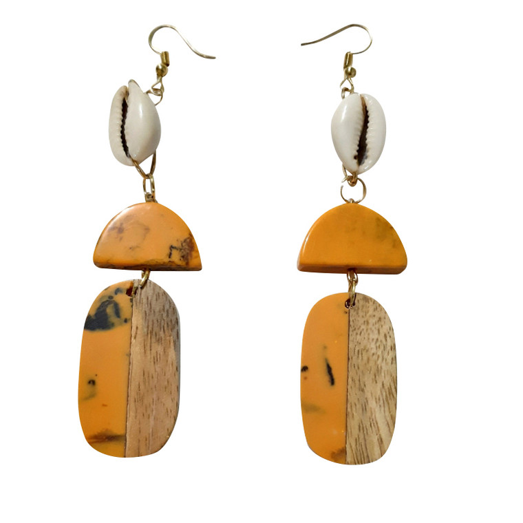 Assorted Cowrie  Shell Earrings  Get this beautiful assortment of handmade cowrie shell earrings.  Various designs and lengths No two pair are alike