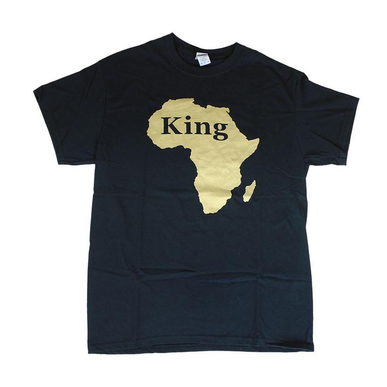 Black King T-Shirt  100% cotton  Sizes M-XXL  Made in China
