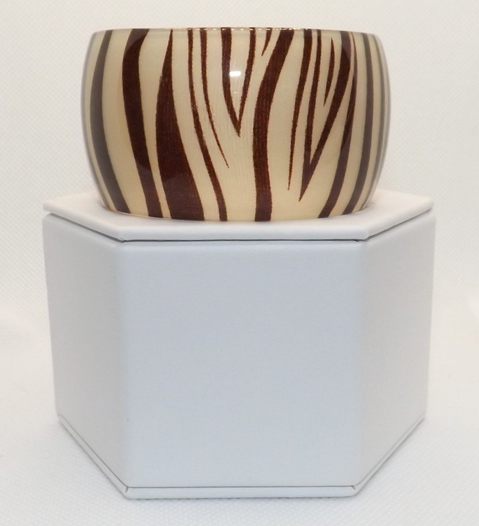 """Zebra Print Acrylic Cuff Bracelet  1"""" opening black/white color Made in China"""