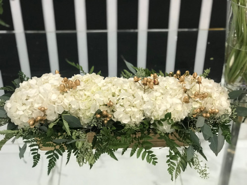 The Gold Berry Centerpiece