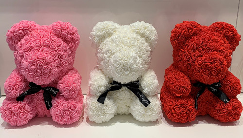Medium Foam Rosettes Teddy Bear