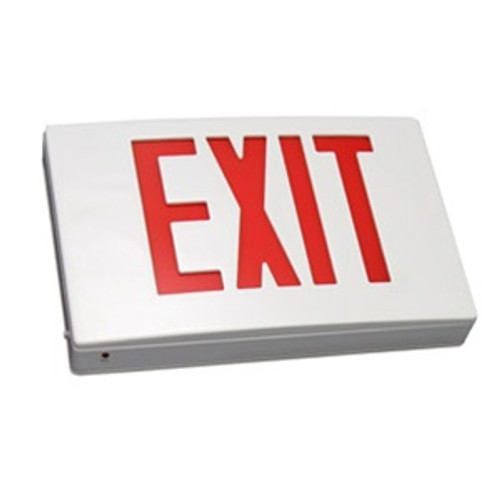 Die Cast Exit Sign Red Single Face Battery Backup White