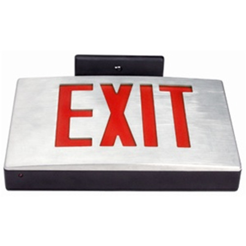 Die Cast Exit Sign Red Double Face Battery Backup