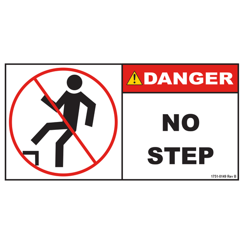 """Decal """"No Step"""" (On Top of Cover)"""