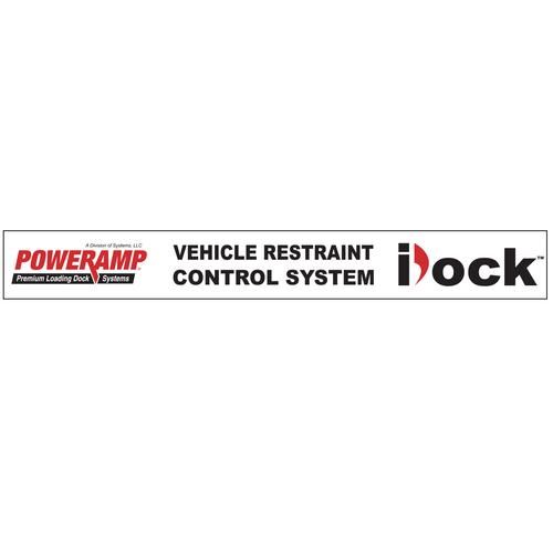 "iDockâ""¢ Decal, ""Vehicle Restraint Control System"" - Poweramp"