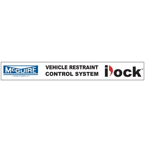 "iDockâ""¢ Decal, ""Vehicle Restraint Control System"" - McGuire"