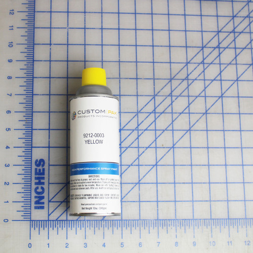 PAINT, SPRAY CAN, YELLOW, CAUTION, 12 OZ PRIMER YELLOW FINISH