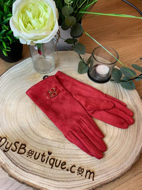 Champs-Élysées Super Soft Red Touch Screen Gloves