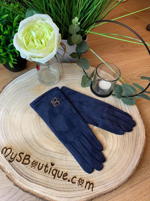 Champs-Élysées Super Soft Navy Touch Screen Gloves