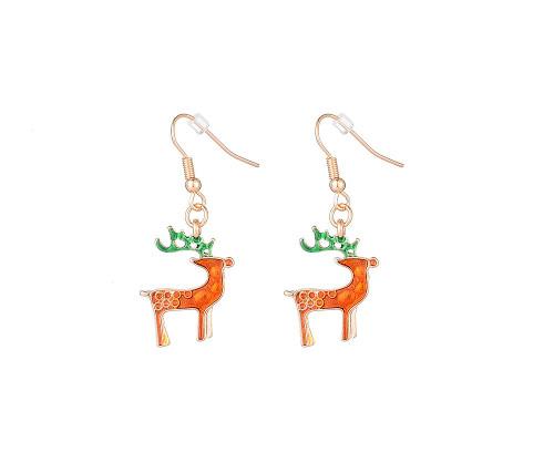 I Hear Sleigh Bells Reindeer Christmas Dangly Earrings