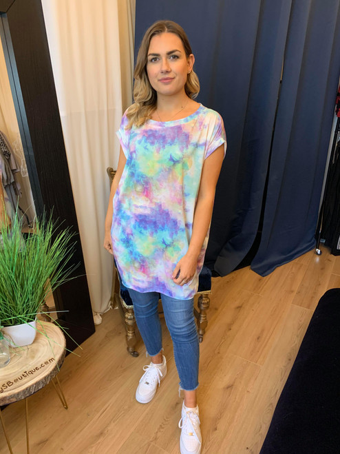 Drift Away Pastel Tie Dye Oversize T Shirt