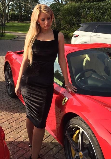 Luxe Collection Gina Black Velvet Dress