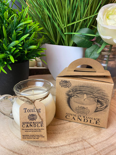 Toning & Firming Soybean Massage Candle Gift Boxed