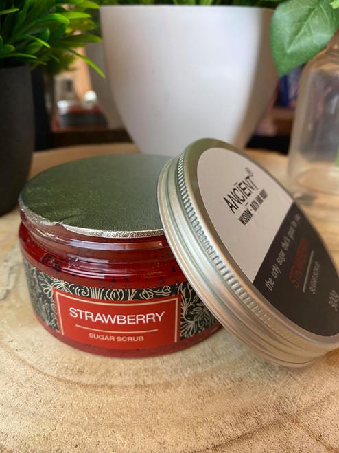 Handcrafted Strawberry Sugar Body Scrub 300g