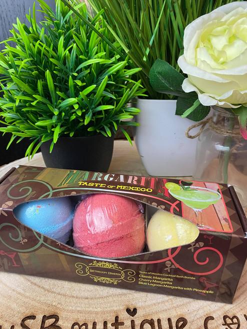 Margarita Lovers Martini Bath Bomb Trio Gift Set