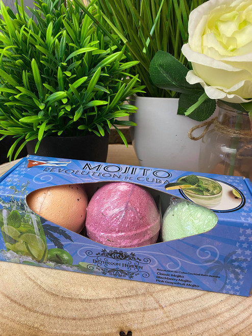 Mojito Lovers Martini Bath Bomb Trio Gift Set