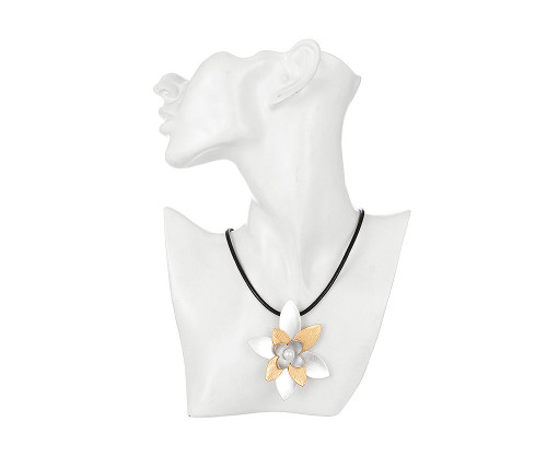 Showstopper Statement Two Tone Floral Necklace