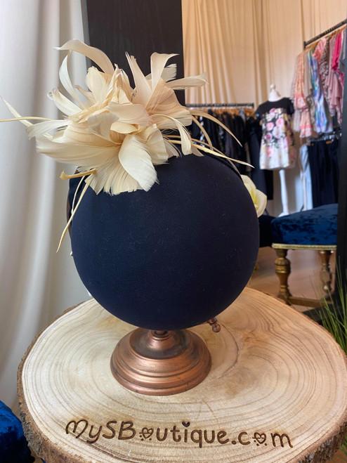 Golden Antara Bloom Triple Floral Fascinator