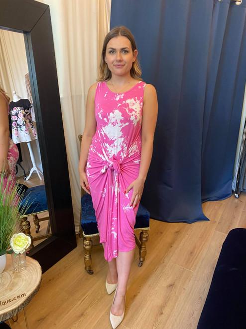 Festival Feels Hot Pink Tie Dye Parachute Maxi Dress