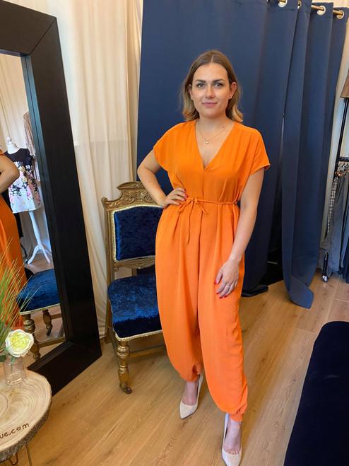 Envy Orange Oversized Jumpsuit