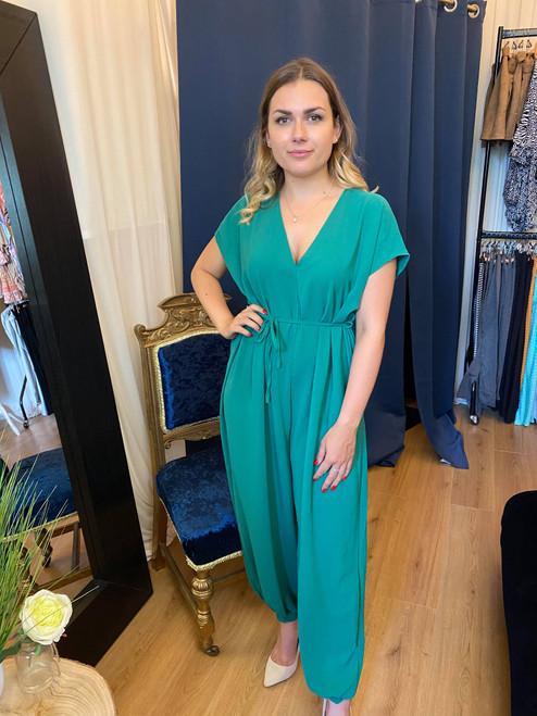 Envy Emerald Green Oversized Jumpsuit