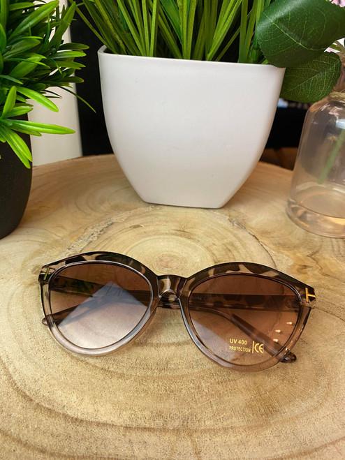 Tortoise Shell Cat-Eye Sunglasses