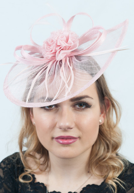 Pretty In Pink Sinamay Fascinator