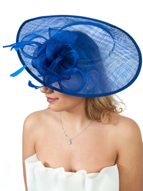 Royal Blue Oversize Teardrop Fascinator