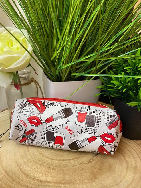 Pop Art Make Up Print Small Makeup Bag/ Makeup Brush Bag