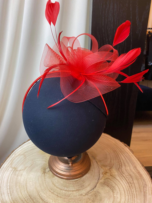 Red Loopy Loo Bow Fascinator