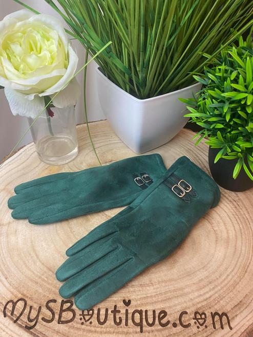 Champs-Élysées Super Soft Green Touch Screen Gloves