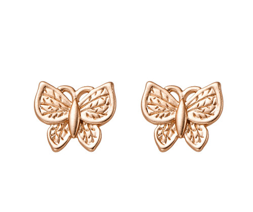 Fable England Small Matt Gold Butterfly Studs