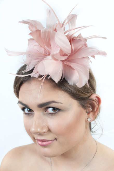 Dusky Pink Antara Bloom Triple Floral Fascinator