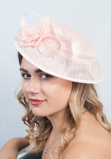 Pale Pink Daisy Sinamay Hatinator