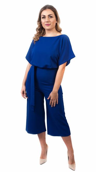Kyra Kimono Sleeve Belted Culotte Jumpsuit