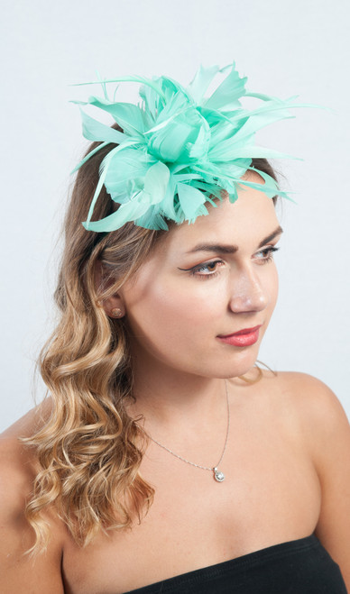 Mint Green Antara Bloom Triple Floral Fascinator