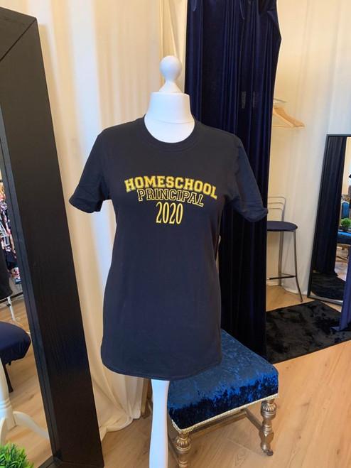 #ClairesChance T Shirts Home School Principal Black & Yellow Tee
