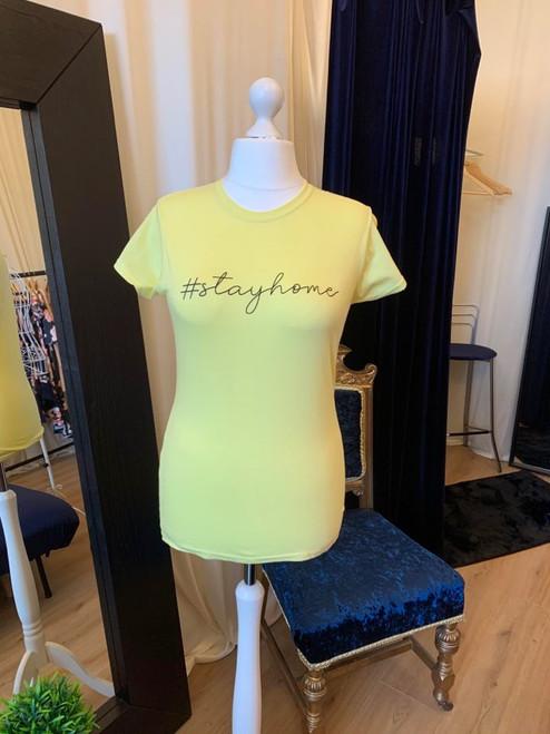 #ClairesChance T Shirt Yellow #StayHome Short Sleeve Tee