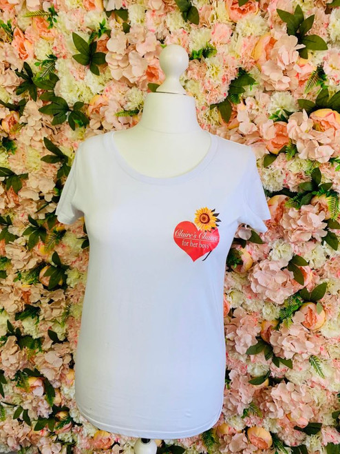 #ClairesChance Ladies White Super Soft T Shirt