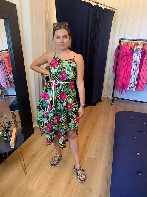 In The Tropics Hanky Hem Cami Dress