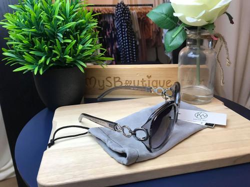 Designer KW Kaytie Wu Barbados Grey Sunglasses