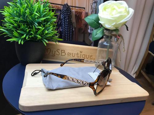 Designer Kaytie Wu Monaco Tortoise Shell Sunglasses
